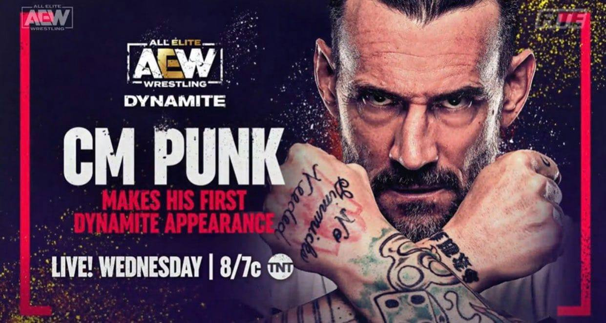 CM Punk AEW Dynamite Debut Graphic