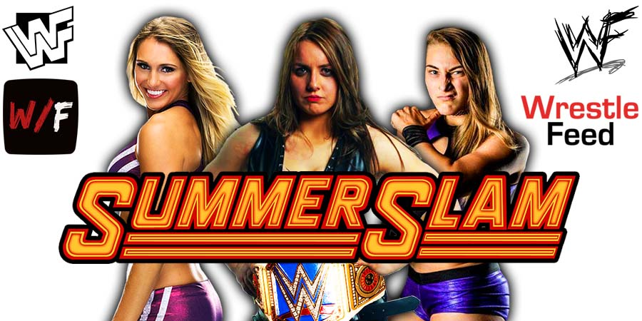 Charlotte Flair Nikki ASH Rhea Ripley SummerSlam 2021 WrestleFeed App