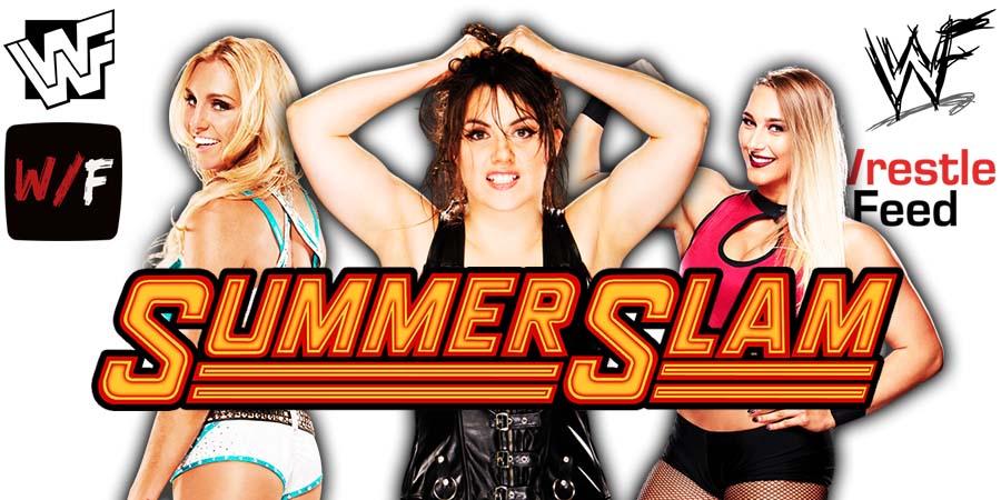 Charlotte Flair defeats Nikki ASH Rhea Ripley SummerSlam 2021 WrestleFeed App