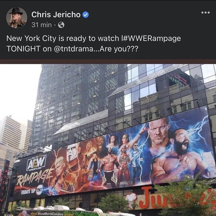 Chris Jericho WWE Rampage Social Media Hashtag Botch