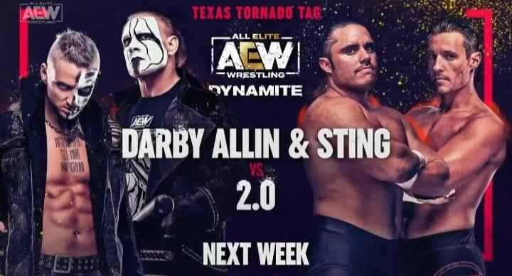 Darby Allin Sting vs 2.0 Texas Tornado Tag Team Match AEW Dynamite