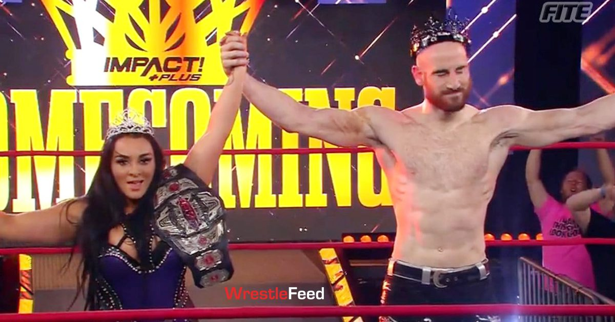 Deonna Purrazzo Knockouts Champion Matthew Rehwoldt Aiden English King & Queen Impact Wrestling Homecoming 2021 WrestleFeed App