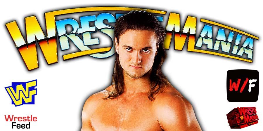 Drew McIntyre WrestleMania 38 WrestleFeed App