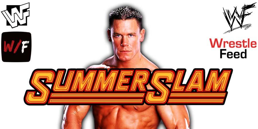 John Cena WWE SummerSlam 2021 PPV Match WrestleFeed App