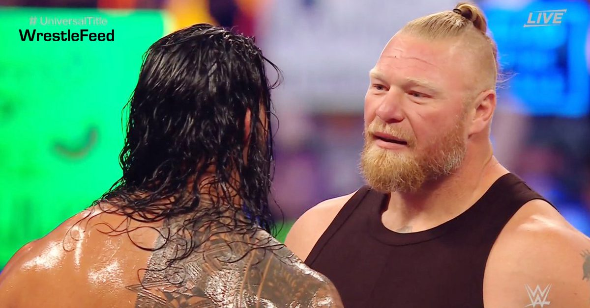 Roman Reigns Brock Lesnar Face To Face WWE SummerSlam 2021 WrestleFeed App