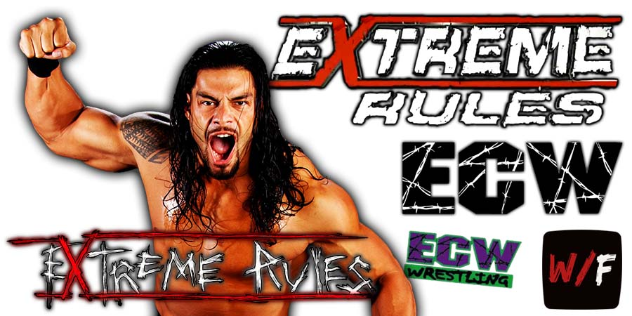 Roman Reigns Extreme Rules 2021 WrestleFeed App