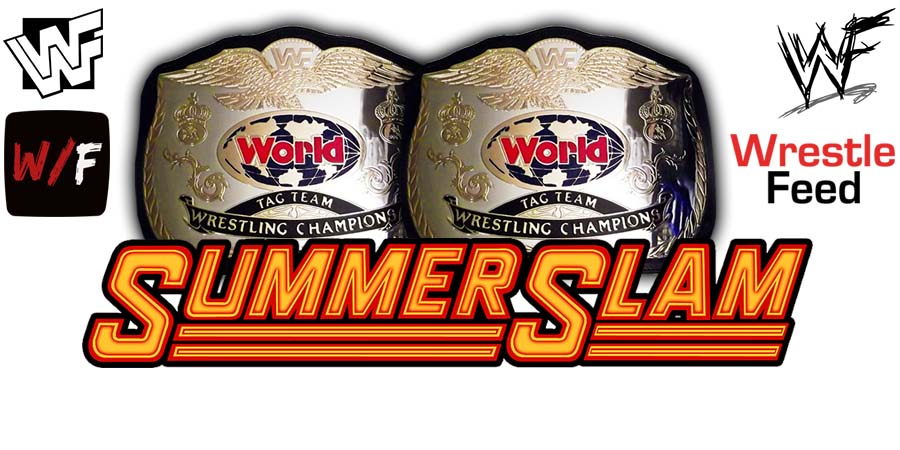 Team Team Championship Title Match SummerSlam WrestleFeed App