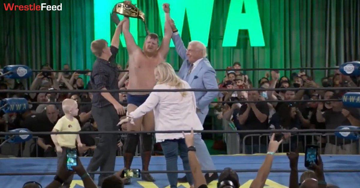 Trevor Murdoch NWA Worlds Heavyweight Champion at NWA 73 August 2021 Ric Flair WrestleFeed App