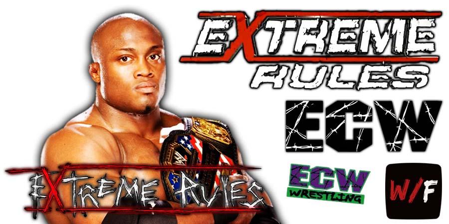 Bobby Lashley Extreme Rules 2021 WrestleFeed App