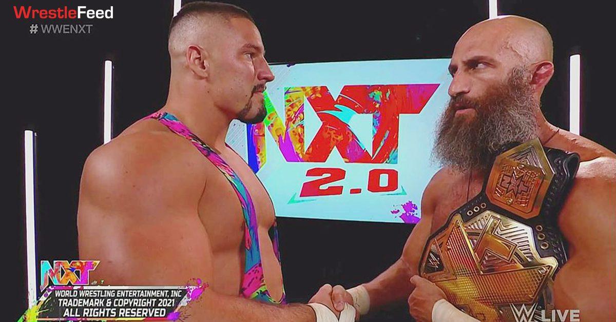 Bron Breakker NXT Champion Tommaso Ciampa Shake Hands WrestleFeed App