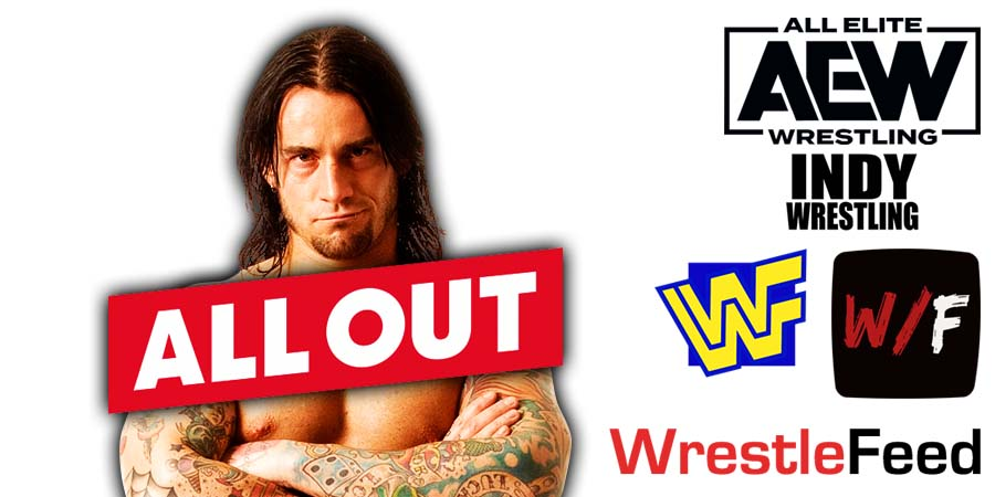 CM Punk All Out 2021 PPV Match WrestleFeed App