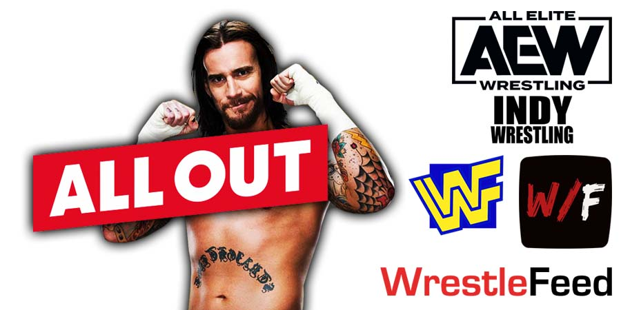 CM Punk All Out 2021 PPV Return Match WrestleFeed App