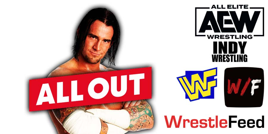 CM Punk All Out 2021 WrestleFeed App