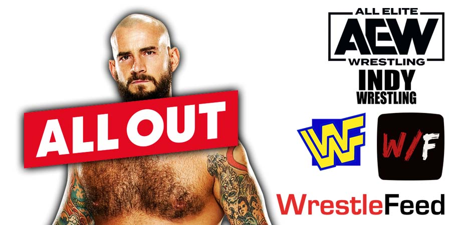 CM Punk All Out PPV Win 2021 WrestleFeed App