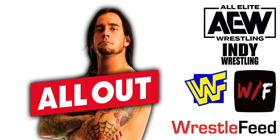 CM Punk Wins At AEW All Out 2021 WrestleFeed App