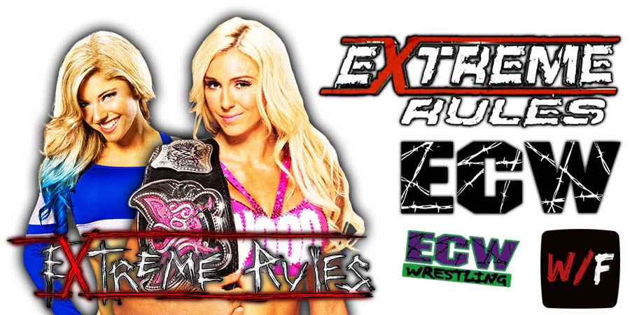 Charlotte Flair defeats Alexa Bliss at Extreme Rules 2021 PPV WrestleFeed App