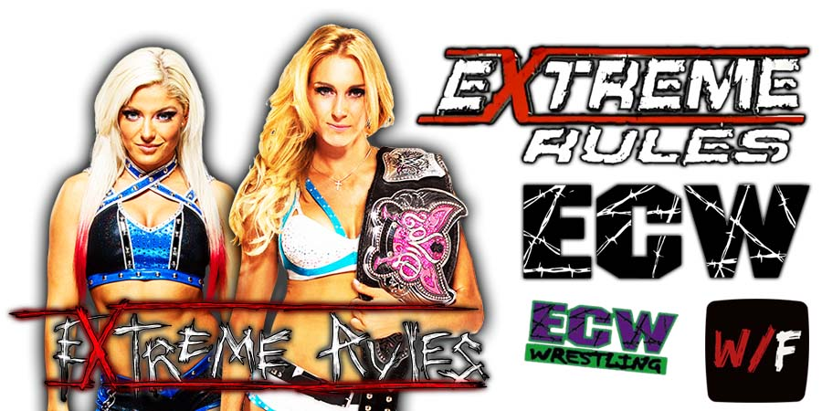 Charlotte Flair defeats Alexa Bliss at Extreme Rules 2021 WrestleFeed App