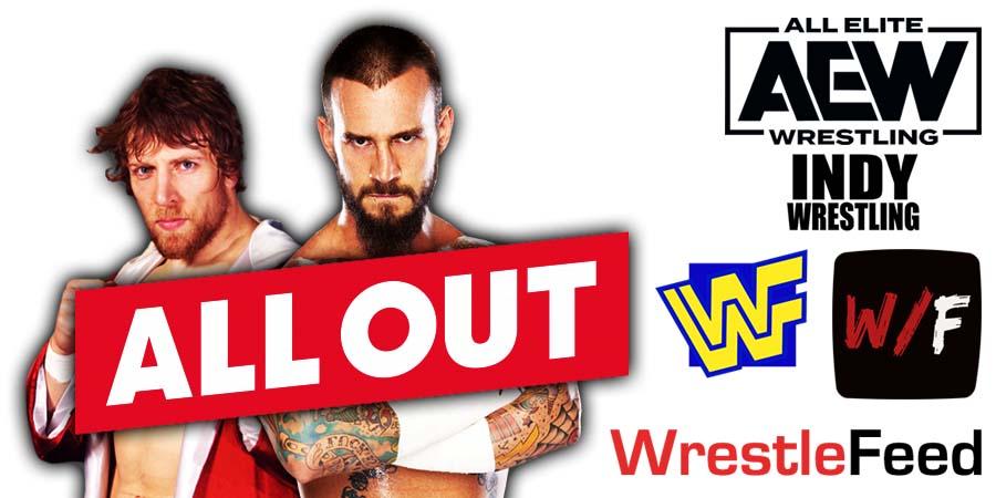 Daniel Bryan Danielson CM Punk AEW All Out 2021 WrestleFeed App