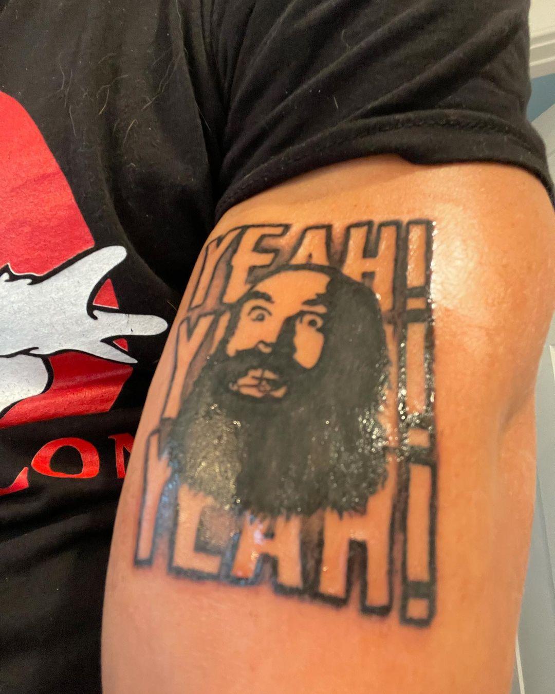 Fandango Gets A Brodie Lee Yeah Yeah Yeah Tribute Tattoo
