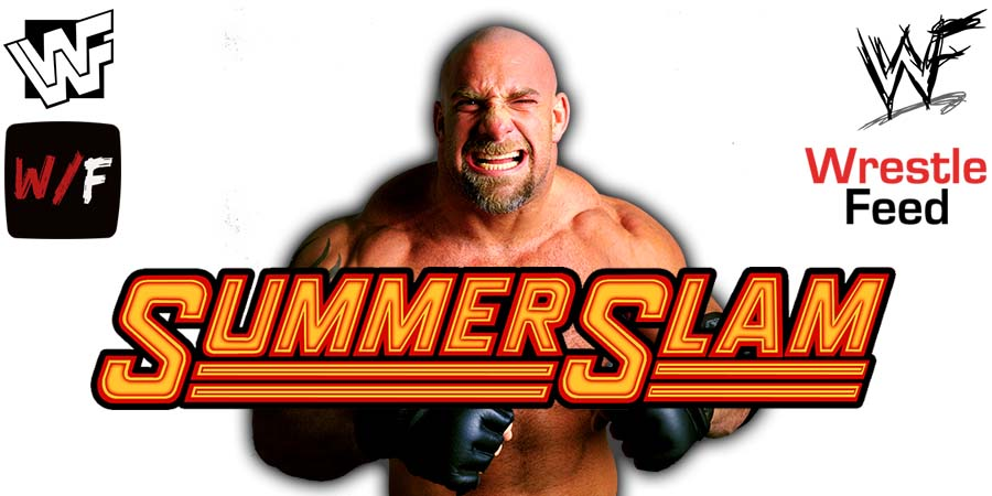 Goldberg WWE SummerSlam 2021 PPV WrestleFeed App