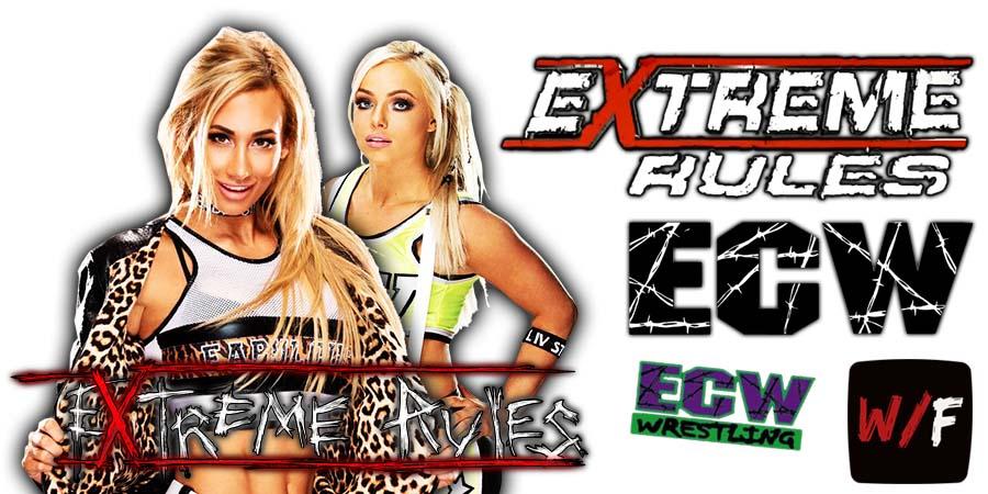 Liv Morgan defeats Carmella WWE Extreme Rules 2021 WrestleFeed App
