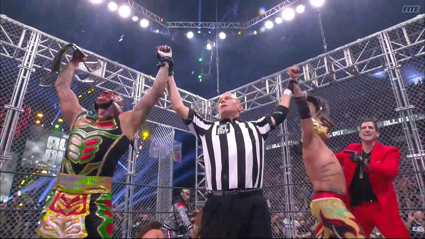 Lucha Bros Win AEW World Tag Team Championship All Out 2021