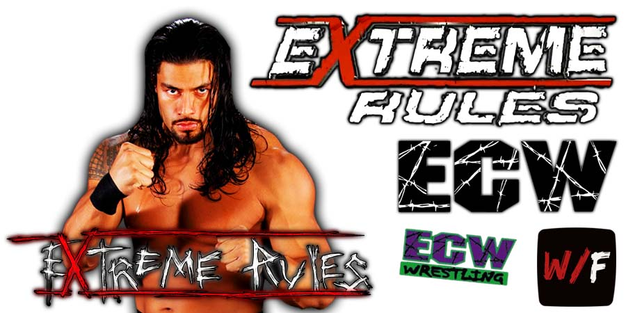 Roman Reigns WWE Extreme Rules 2021 WrestleFeed App