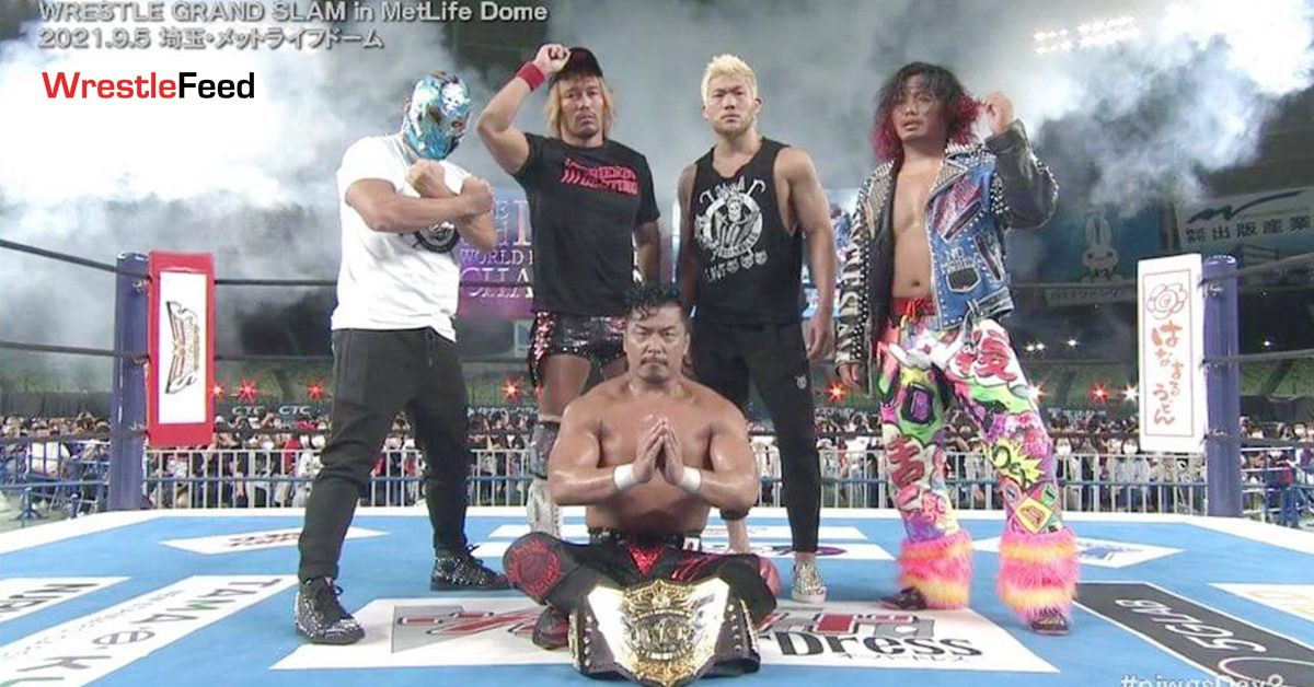 Shingo Takagi IWGP World Heavyweight Champion NJPW Wrestle Grand Slam In MetLife Dome WrestleFeed App