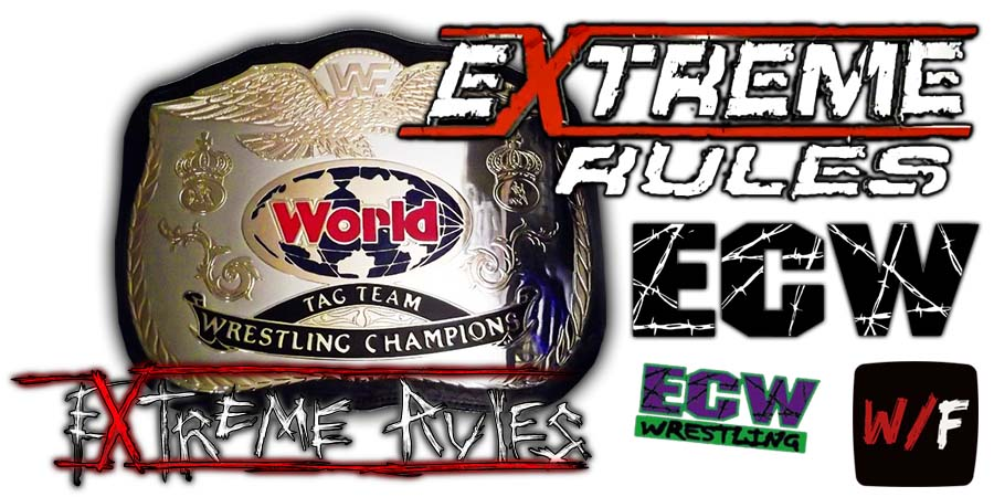 Tag Team Championship Title Match Extreme Rules WrestleFeed App