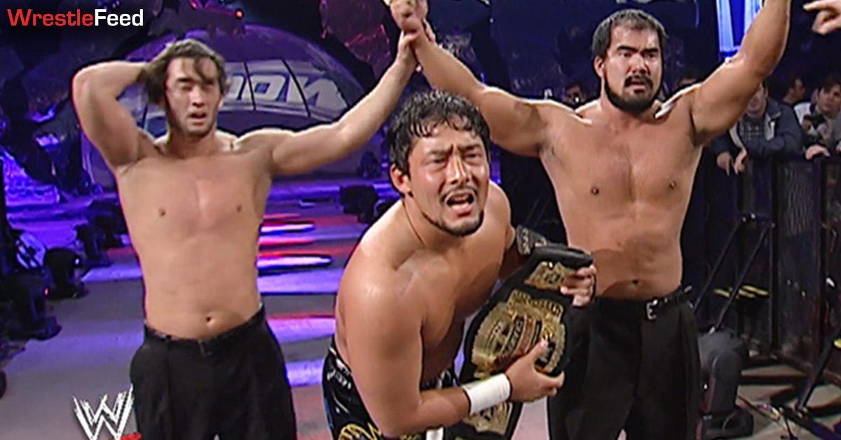 Tajiri WWE Cruiserweight Champion Akio Jimmy Wang Yang Ryan Sakoda Kyo Dai SmackDown WrestleFeed App