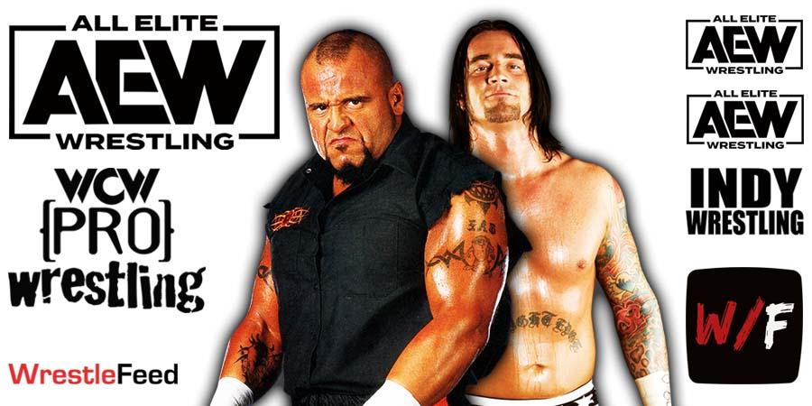 Taz CM Punk AEW WrestleFeed App