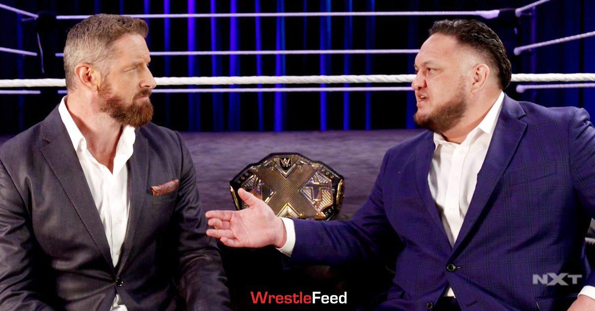 Wade Barrett NXT Champion Samoa Joe Sit Down Interview WrestleFeed App