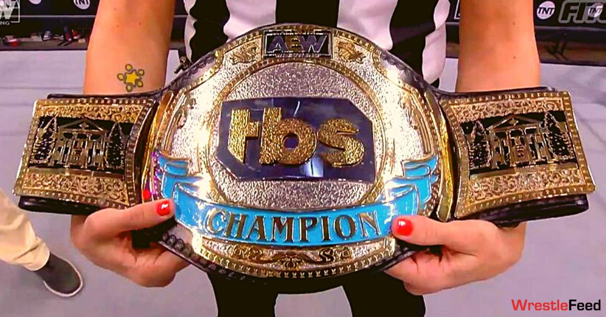 AEW TBS Championship Title Belt Close Up WrestleFeed App