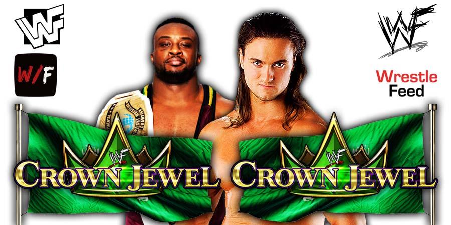 Big E vs Drew McIntyre Crown Jewel 2021 WrestleFeed App