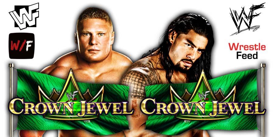 Brock Lesnar vs Roman Reigns Crown Jewel 2021 Main Event WrestleFeed App