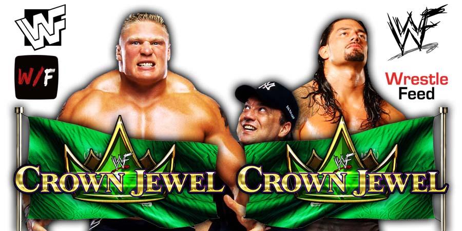 Brock Lesnar vs Roman Reigns WWE Crown Jewel 2021 PPV Title Match WrestleFeed App