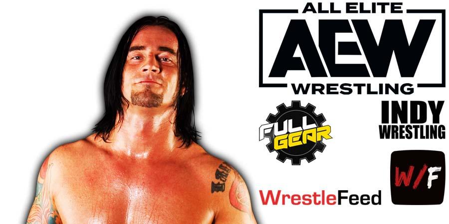 CM Punk AEW Full Gear 2021 WrestleFeed App