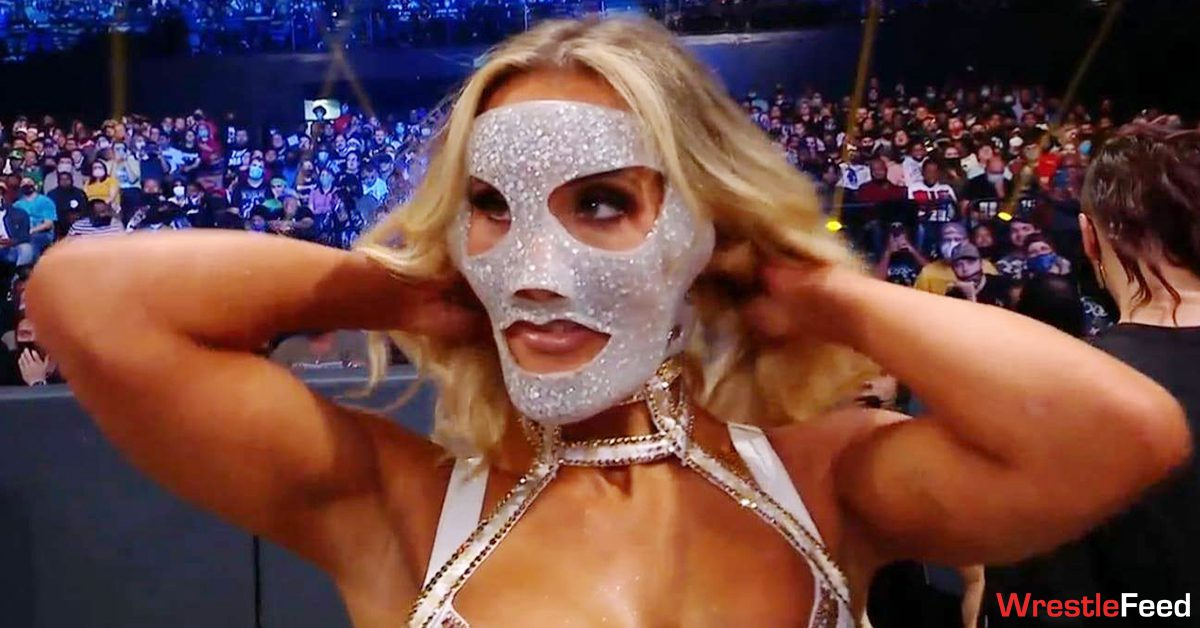Carmella Face Protective Mask WWE SmackDown October 1 2021 WrestleFeed App